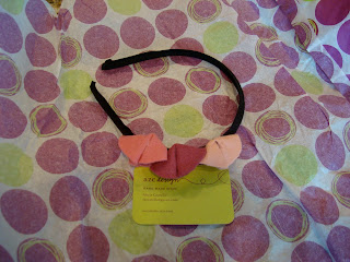 Black and multi color pink headband