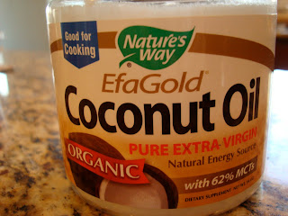 Container of coconut oil