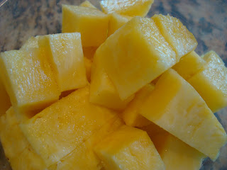Diced up pineapple