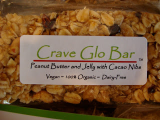 Peanut Butter and Jelly with Cacao Nibs Glo Bar