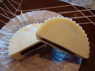 Vegan White Chocolate Chocolate-Peanut Butter Cups