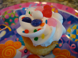 Close up of cupcake on plate