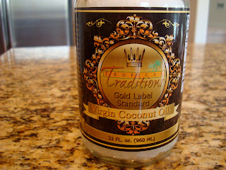 Tropical Traditions Coconut Oil in container on countertop