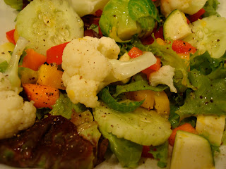 Mixed Greens with Vegetable Salad