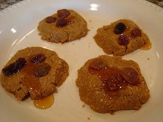 No-Bake 3-Ingredient Vegan Flaxseed Cookies on white plate