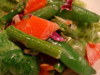 Mixed salad with Vegan Slaw Dressing