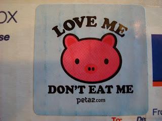 Love Me Don't Eat Me Sticker