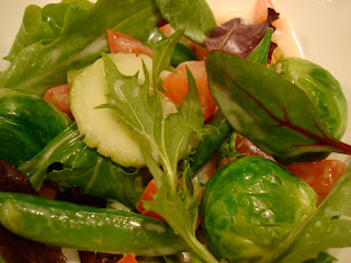 Green salad with vegetables with Slaw Dressing