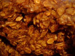 Close up of granola showing oats