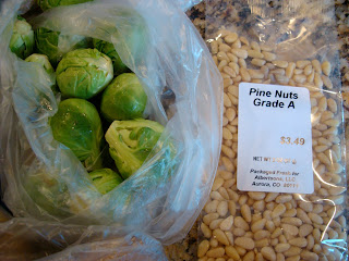 Brussel Sprouts and Pine Nuts