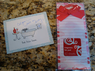 Card and note pad