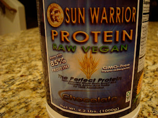 Chocolate Sun Warrior Brown Rice Protein container