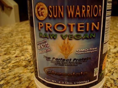 Sun Warrior Protein Powder in Chocolate
