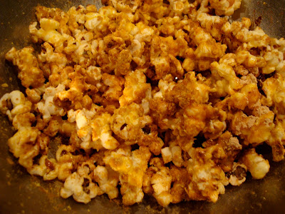 Finished popcorn in large bowl