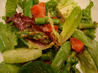 Mixed Green Salad with vegetable bowls