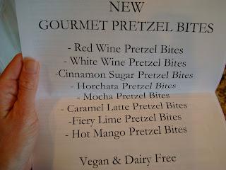 Paper of flavors of Gourmet Vegan Pretzel Bites