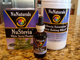Various Stevia Products on countertop