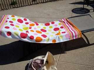Towel on lounge chair