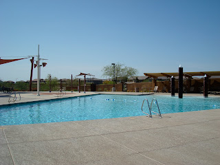 Pool with patio