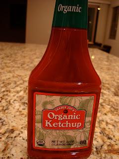Bottle of Organic Ketchup