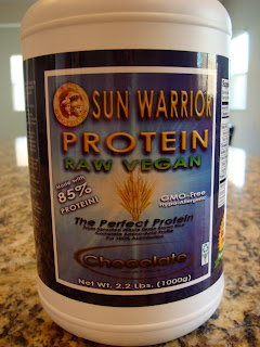 Container of Sun Warrior Protein Powder