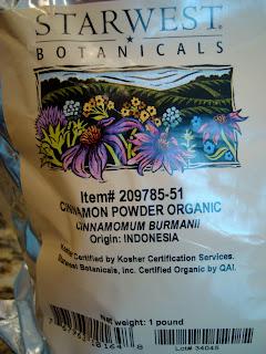 Bag of Organic Cinnamon Powder