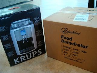 Espresso maker and food dehydrator