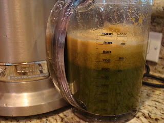 Container filled with Green Juice