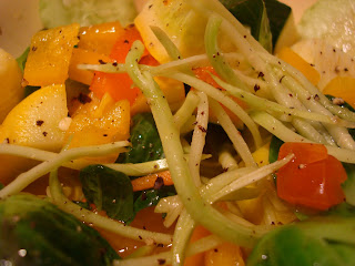 Broccoli slaw salad with mixed vegetables