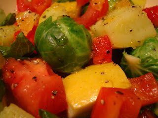 Mixed vegetables in dressing