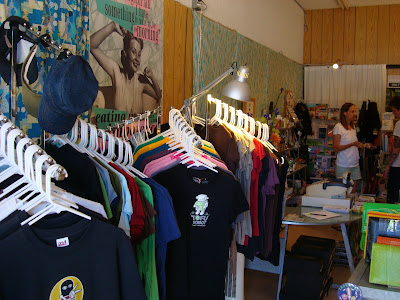 Inside All Vegan Store with shirts on racks