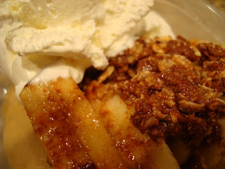 Close up of Apple Crumble