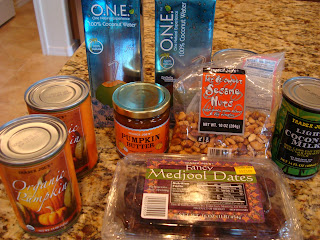 Various groceries on countertop from Trader Joe's