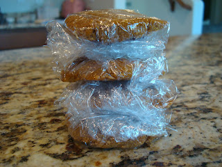 No-Bake Maple Flaxseed Cookies stacked