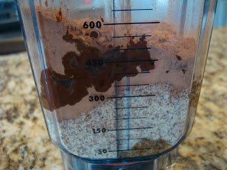 Ingredients needed to make Thin Mint Fudge in blender