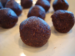 Plateful of Raw Vegan Chocolate Peppermint Donut Holes