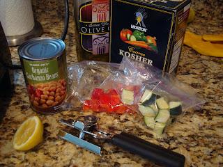 Ingredients needed to make hummus