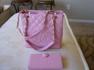 Pink Chanel bag and Wallet