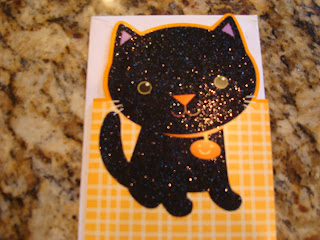 Halloween Card with Black Cat on front