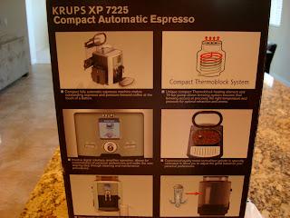 Back of Espresso Maker box