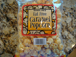Trader Joe's bag of Fat Free Caramel Popcorn