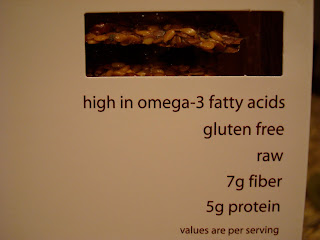 Dr. Flacker's Crackers showing GF, Raw, High in Protein & Fiber