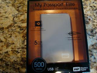 External hard drive in package