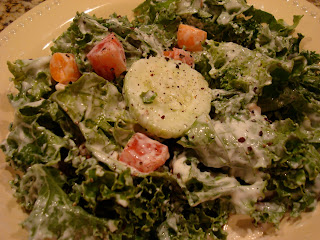 Kale Salad with Cesar-Inspired Dressing