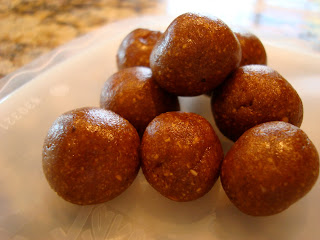 Raw Vegan Gingerbread Cookie Dough Balls stacked on one another