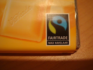 FairTrade label on chocolate bar