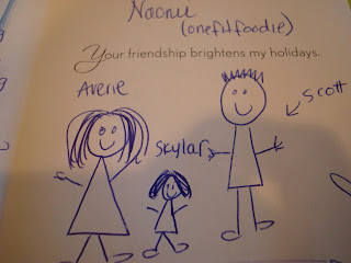 Hand drawn picture of family