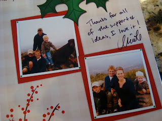 Christmas card from friend Nicole