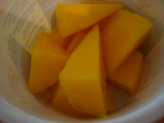 Diced Mango in cup