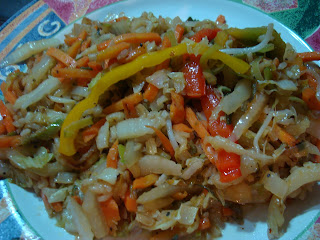 Vegan Stir Fry plated on white plate